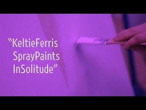 "▶ Keltie Ferris Spray Paints in Solitude | ""New York Close Up"" | Art21 - YouTube"