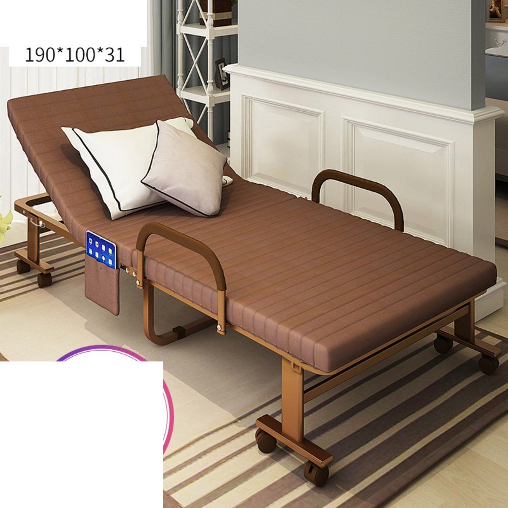 Jkapwqoiluxhwtx Folding Bed Single Bed Bed Rest Simple Folding