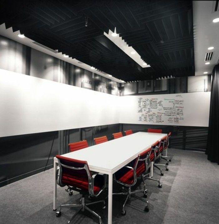 Büromöbel konferenztisch rote stühle | EINRICHTUNGSIDEEN | Pinterest ...