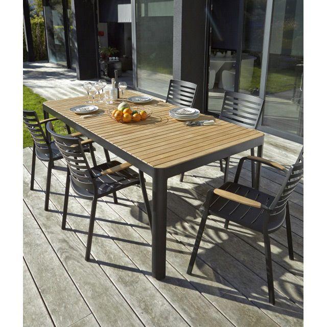 Table De Jardin En Bois Kea 209 X 105 Cm En 2020 Table De Jardin