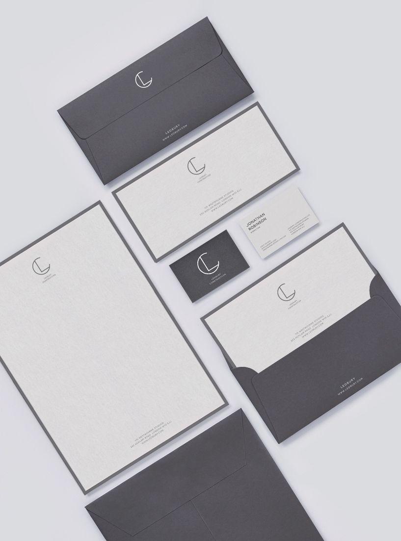 Ledbury On Behance Envelope Design Ledbury Envelope