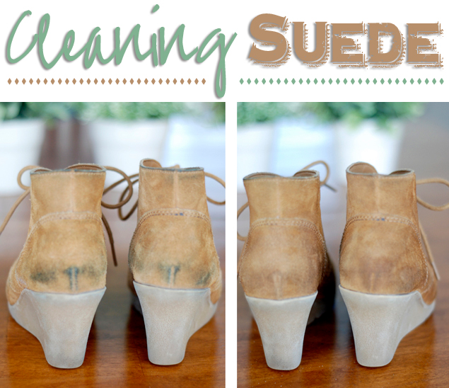 how to clean suede clothes