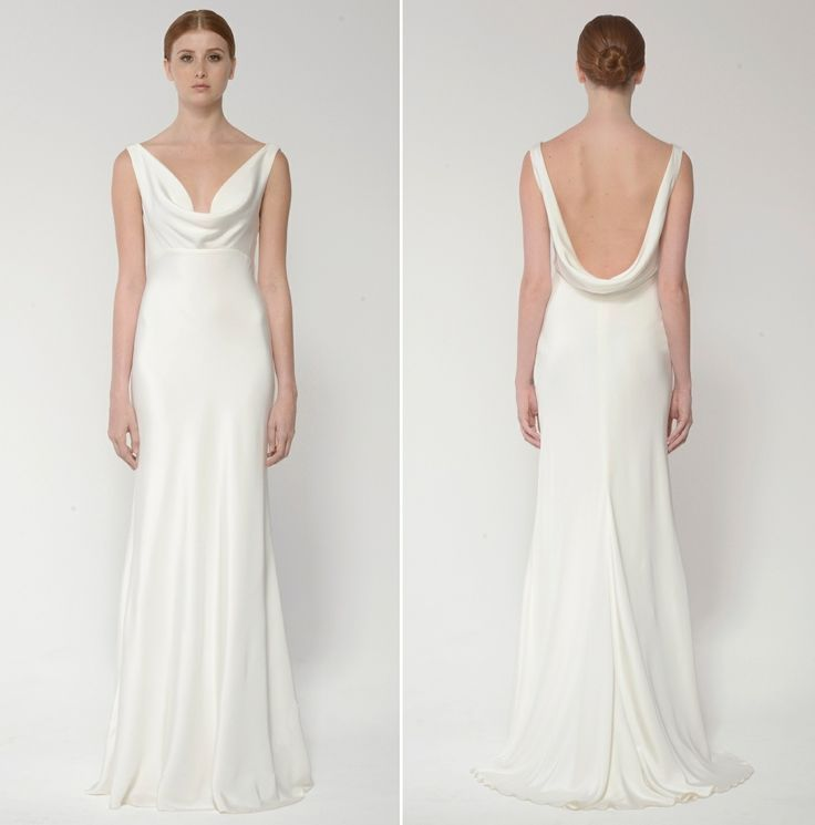 Cowl Neck Back Wedding Dresses: Cowl Neck Beach Wedding Dress In 2019