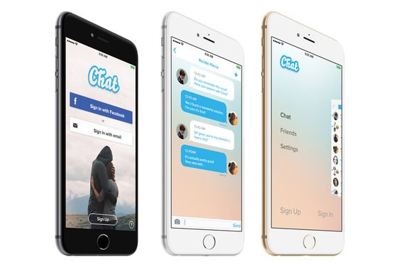 Chat App Template Psd Iphone 6 5 By Arcangelofiore On Creative
