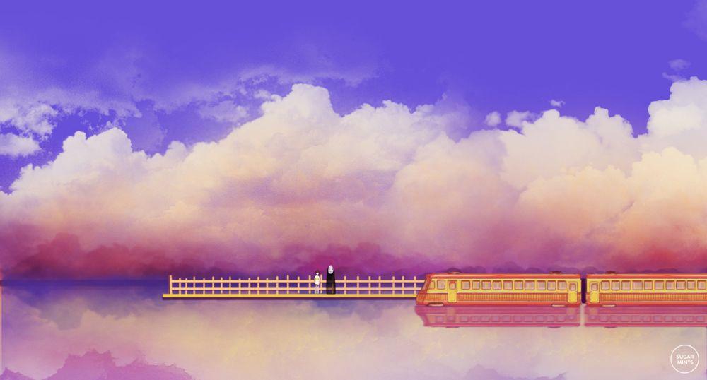 Spirited Away Departure By Sugarmints Studio Ghibli Spirited Away Spirited Away Poster Studio Ghibli