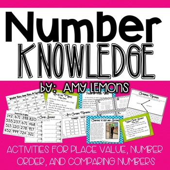 Looking for new ideas to teach place value and comparing/ordering numbers?  This pack focuses on 2 and 3 digit numbers, but also goes a little beyond 1000 on a few of the activities.-I'm in the Middle:  Students roll dice to make a number, then find the number that comes before and after (also has a center option)-What Comes Next:  Students choose a number card (2 and 3 digit cards available) and write the next 4 numbers that would come after (also has a center option)-What Comes Before…