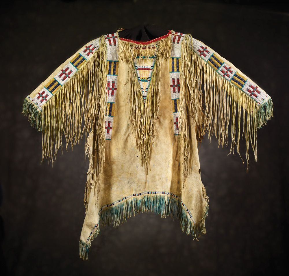 Sioux Man's Beaded & Fringed Shirt, c 1880 Stet would wear