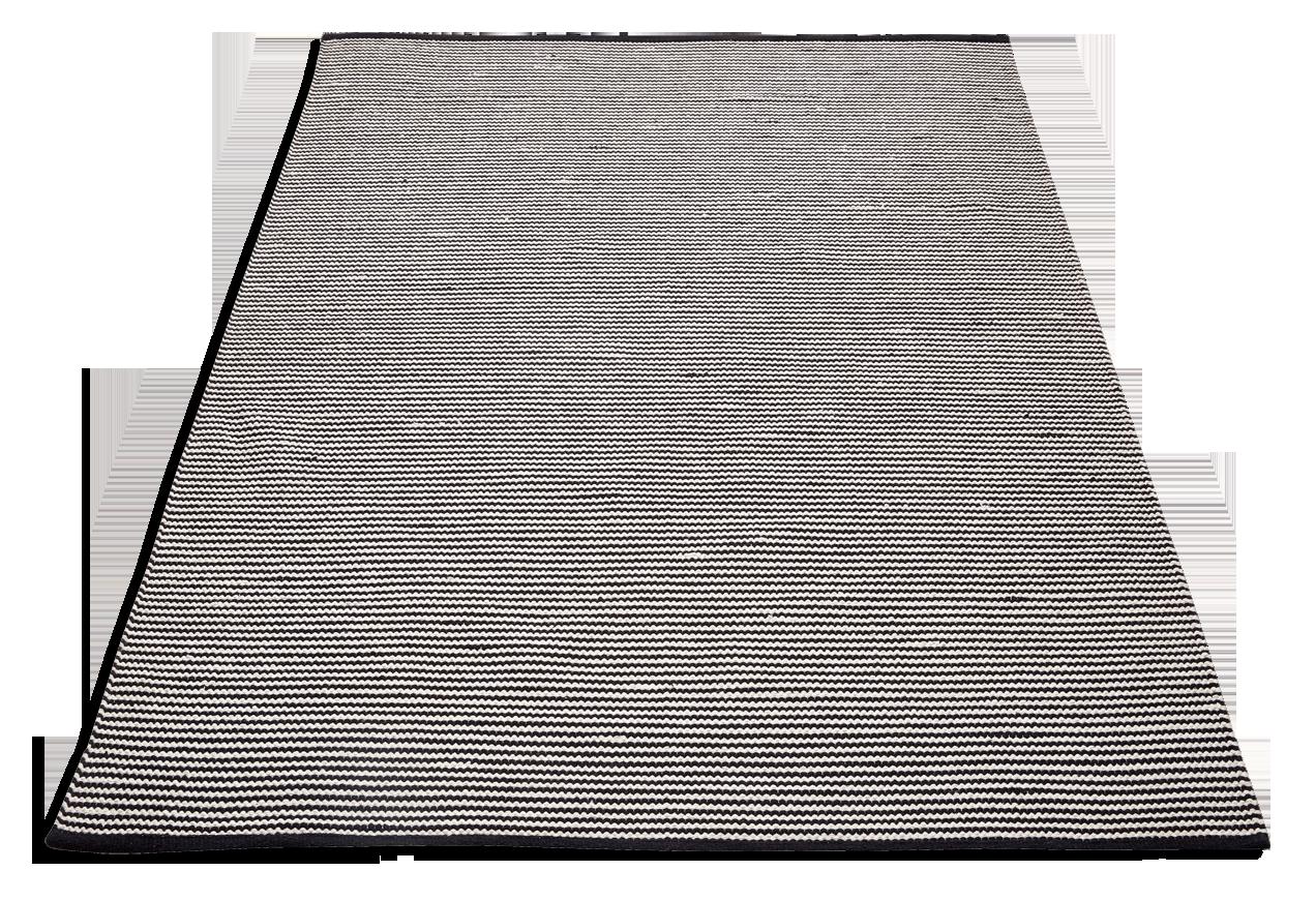 RILLA-matto 140 x 200 cm (Mustavalkoinen)