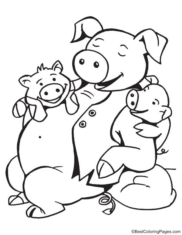 Children are dear to father coloring page | coloring pages ...