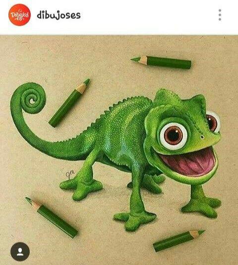 Lagartija Enredados Camaleon Dibujos De Camaleones Dibujos De Animales Lapices De Colores Dibujos