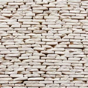 Solistone Standing Pebbles Pavilion 4 In X 12 In Stone Pebble Mosaic Marble Wall Tile 5 Sq Ft Case 3005 Pebble Tile Marble Wall Tiles Stone Tile Wall
