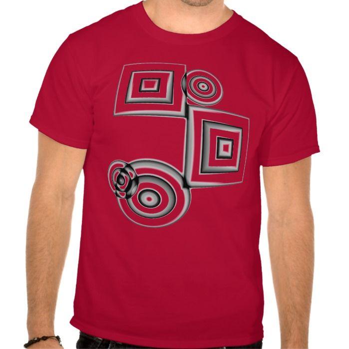 Geometric Circles and Squares T Shirt, Hoodie Sweatshirt