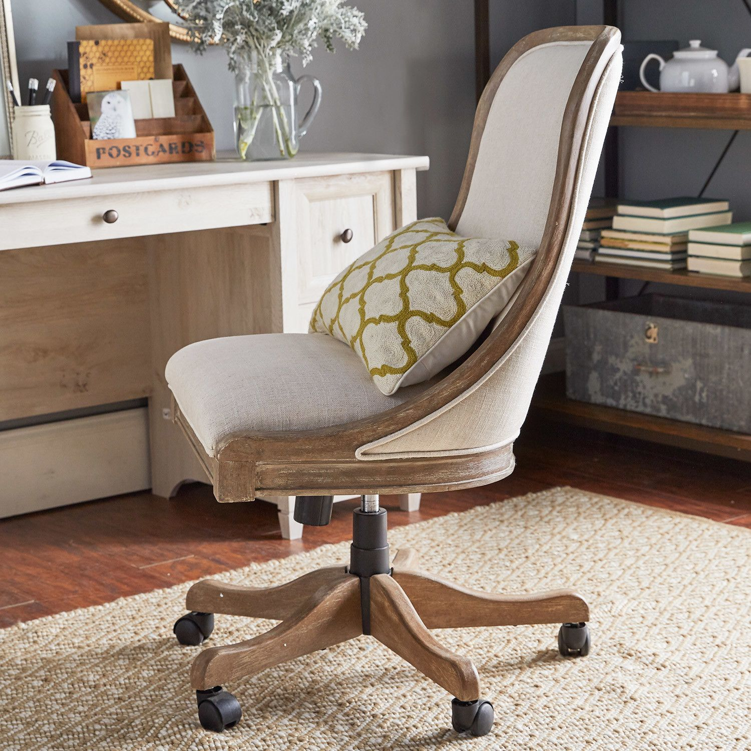 Stanley Low Back Walnut Office Chair In White Conference Chairs