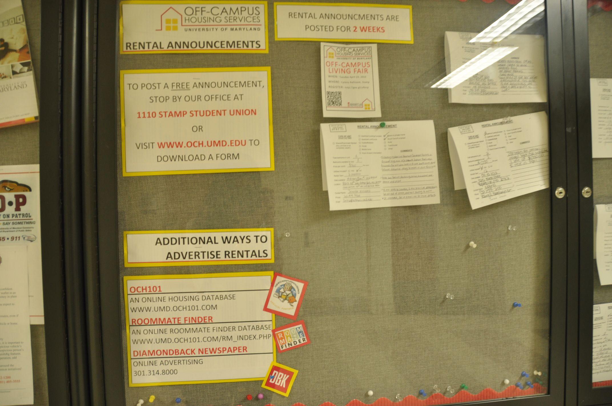 Off Campus Housing Info University O University Of Maryland College Park Maryland