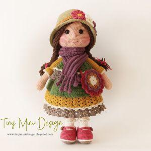 Amigurumi Büyük Safiş Bebek Yapılışı-Amigurumi Free Pattern Doll - Tiny Mini Design #amigurumitutorial