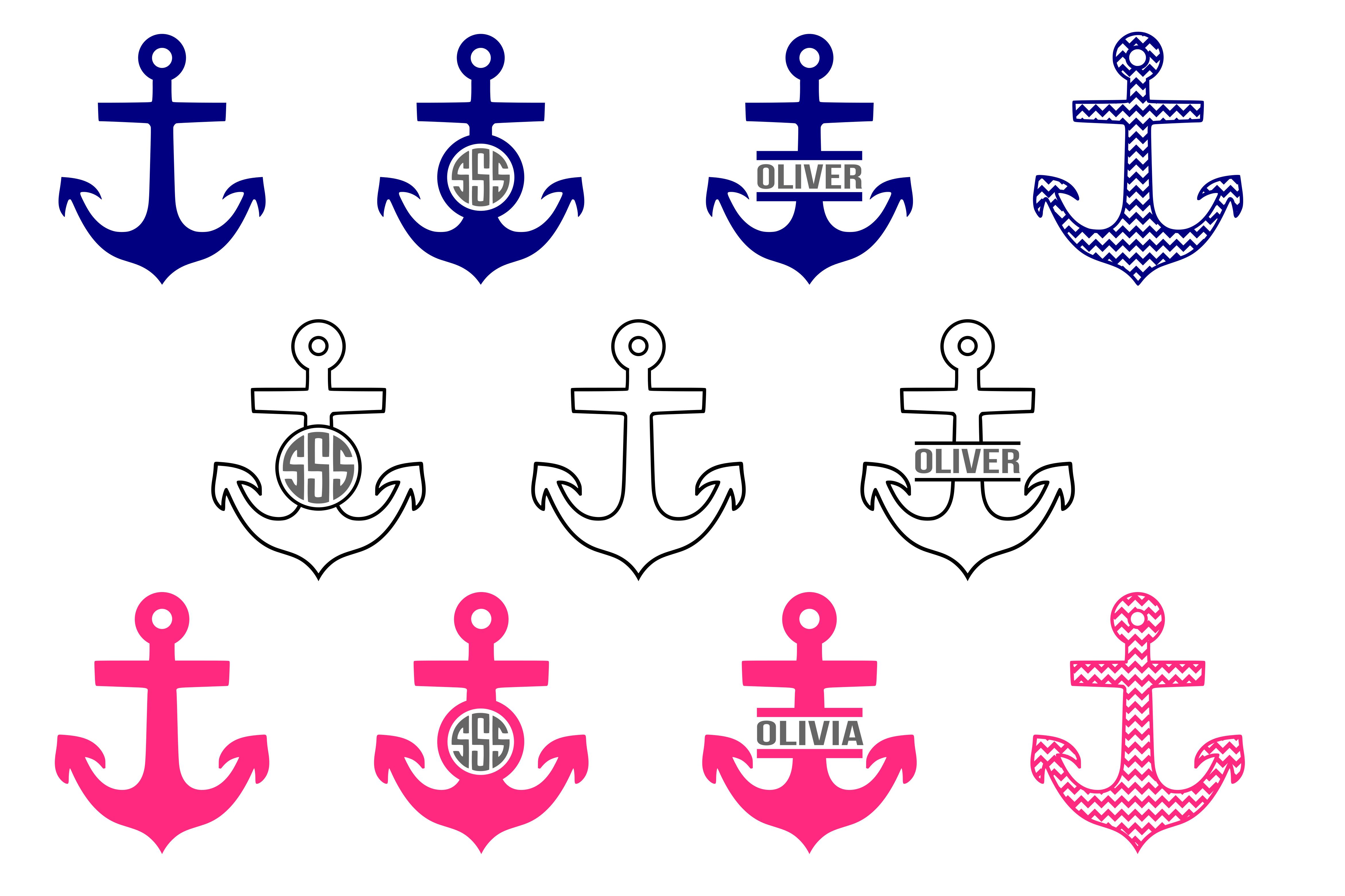 Download Anchor Svg Nautical Svg Sailing Svg Design Bundles Free Svg Svg Monogram Frame