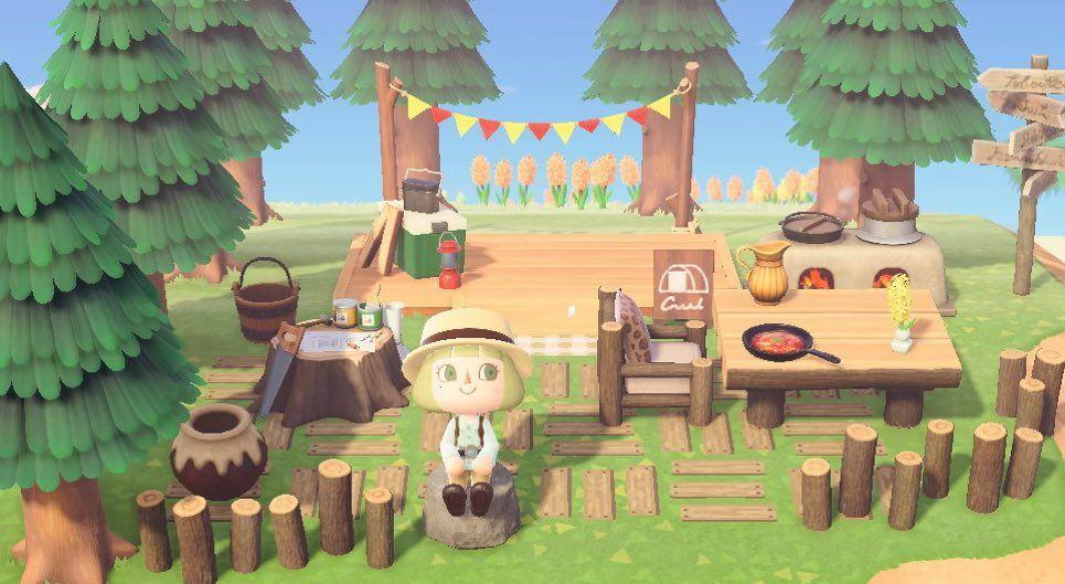 あつまれ どうぶつ の 森 キャンプ サイト 場所