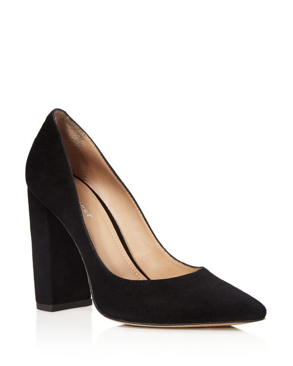 Pour La Victoire Suede Pointed-Toe Pumps eastbay cheap online QHR4nWP3