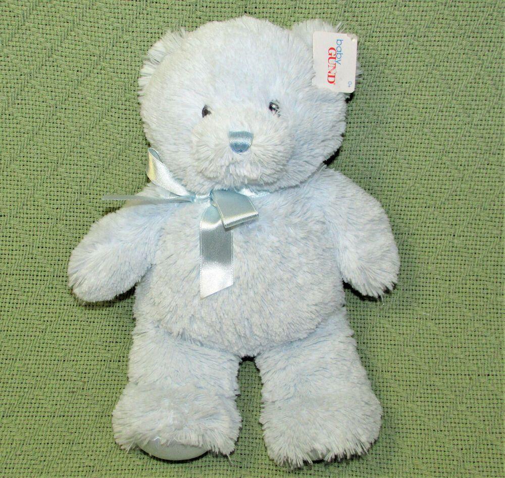 Predownload: 11 Baby Gund My First Teddy Blue Stuffed Animal Soft Plush With Tag Satin Feet Babygund Blue Stuffed Animals Soft Plush Teddy [ 946 x 1000 Pixel ]