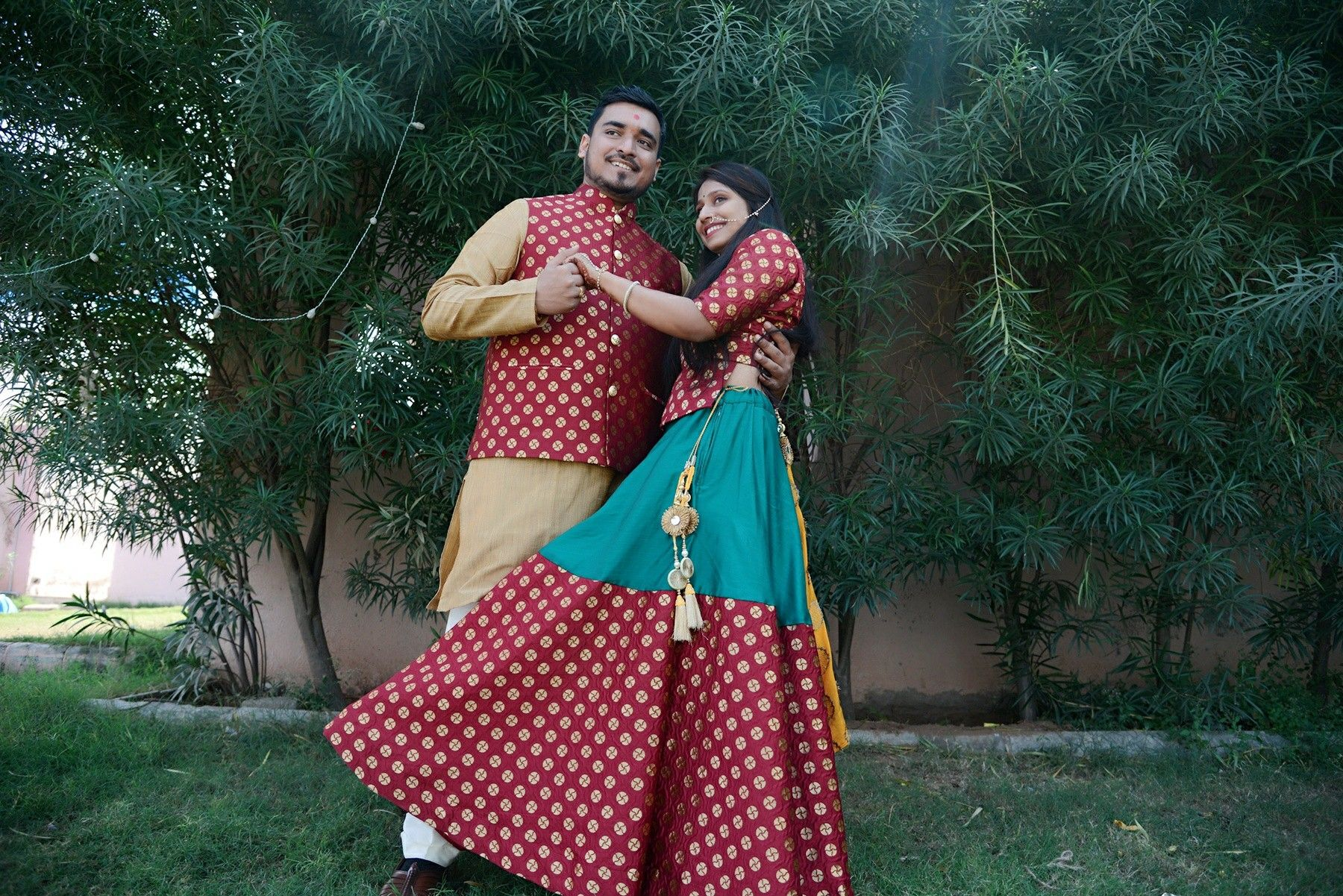 Couple wedding dressIndian weddingCouple matching