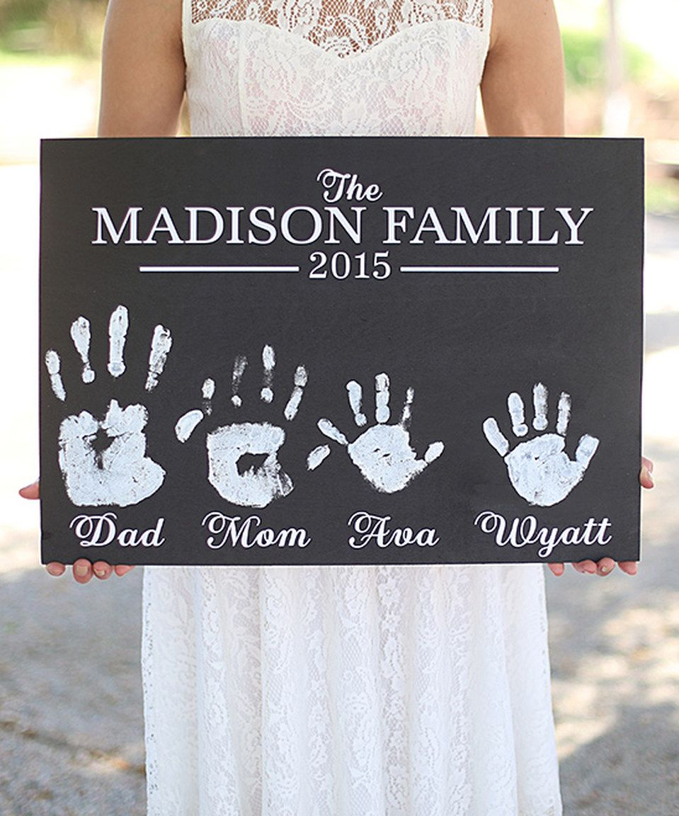 Another great find on #zulily! DIY Family Handprints Personalized Wall Sign  by Morgann Hill Designs #zulilyfinds