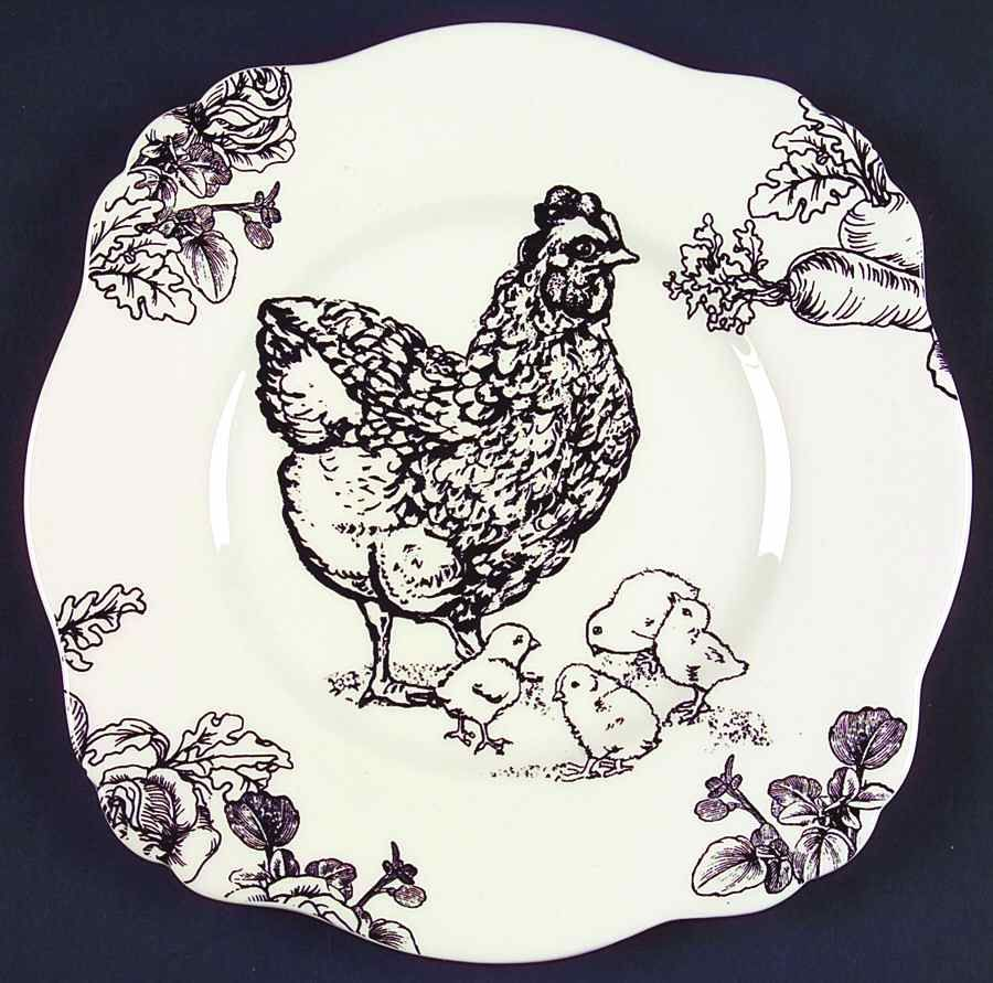 Sadek BARNYARD TOILE Chicken Square Lunch Plate 6286553  sc 1 st  Pinterest & Sadek BARNYARD TOILE Chicken Square Lunch Plate 6286553 | Toile ...