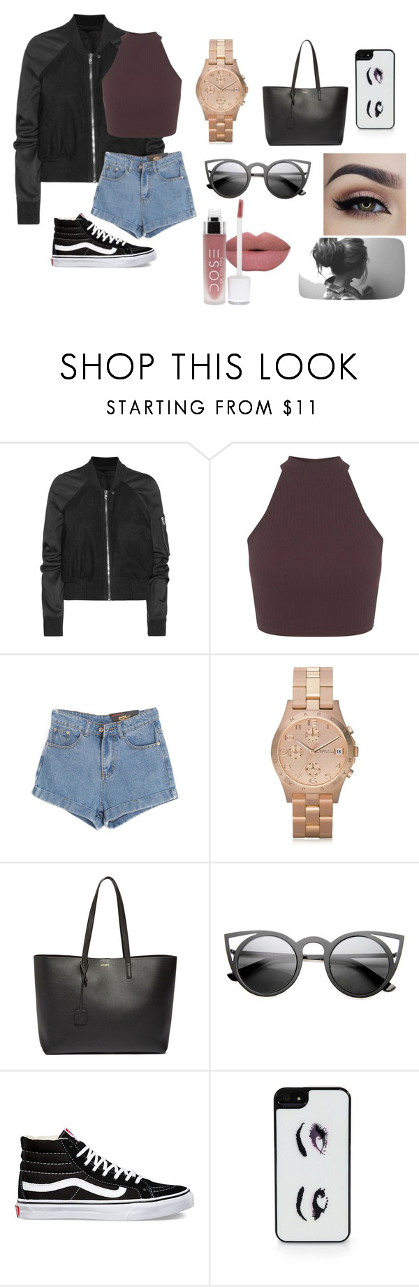 """""""Untitled #78"""" by thats0jai on Polyvore featuring Rick Owens, Miss Selfridge, Chicnova Fashion, Marc by Marc Jacobs, Yves Saint Laurent, Vans, Kate Spade, women's clothing, women and female"""