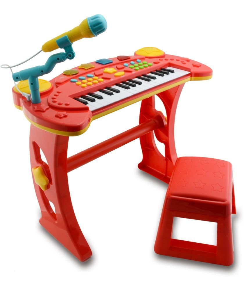 Dolls house at argos co uk your online shop for dolls houses dolls - Buy Chad Valley Sing Along Keyboard Stand And Stool Red At Argos Co