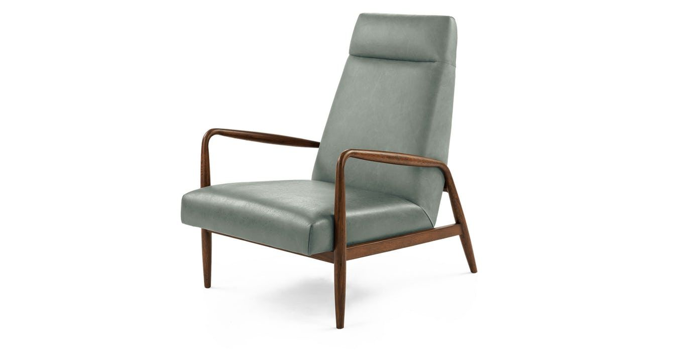 Best Blue Leather Chair Upholstered Article Pender Modern 640 x 480