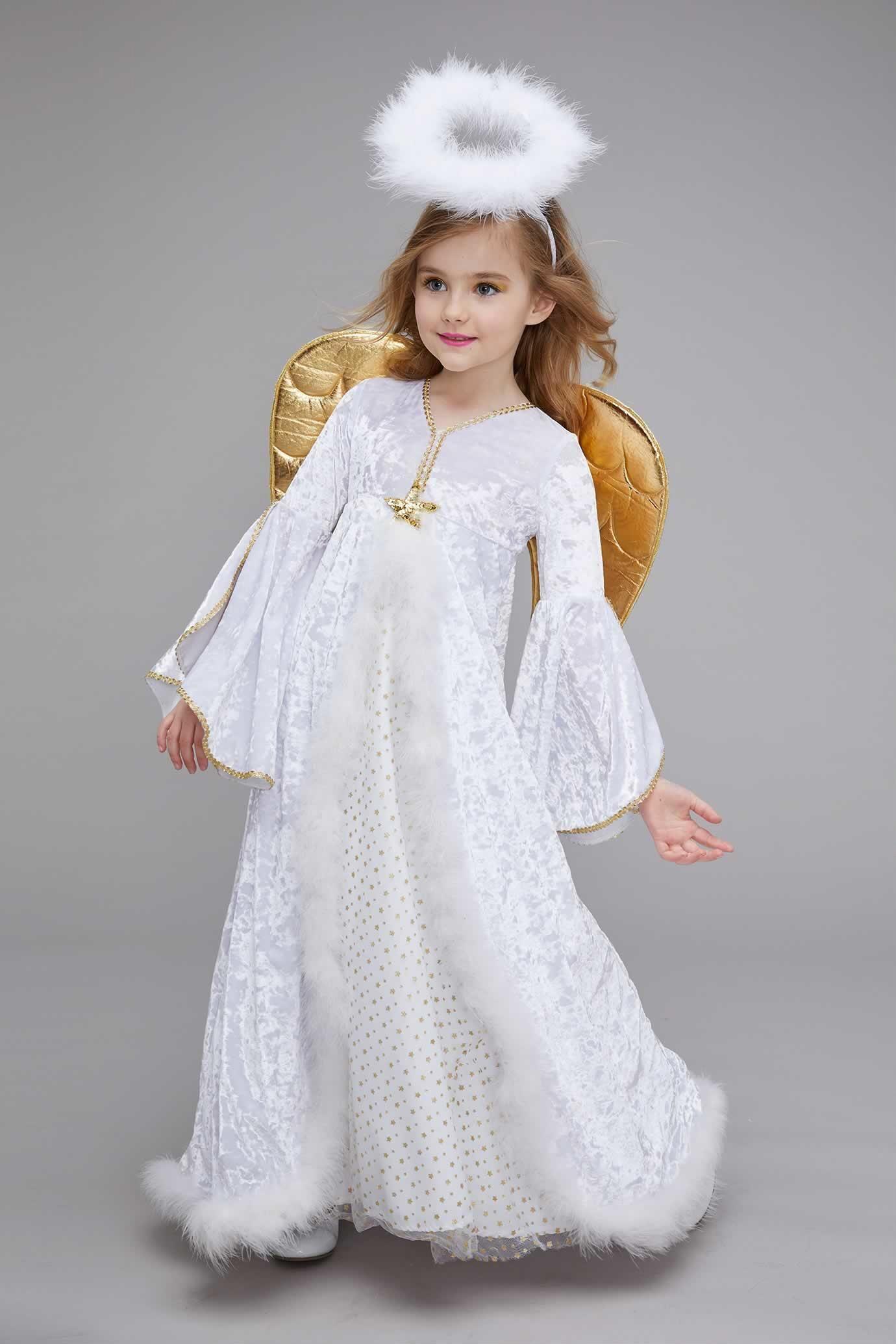 Golden Angel Costume Girls Halloween