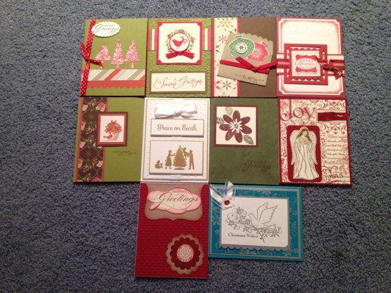 Christmas card variety set (10) on Etsy, $18.00