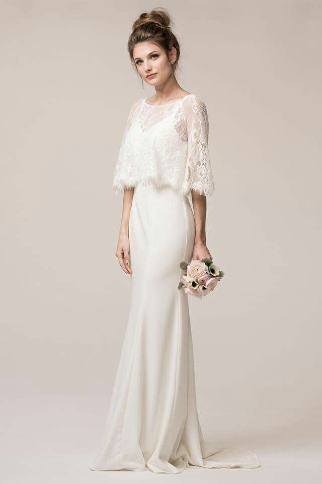 Pin By Kanns On Wedding Ideas Rustic Dresses White Bridal Gown Long Sleeve Wedding Dress Lace