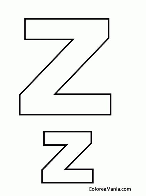 Letra Z Para Colorear Buscar Con Google Letras Colores