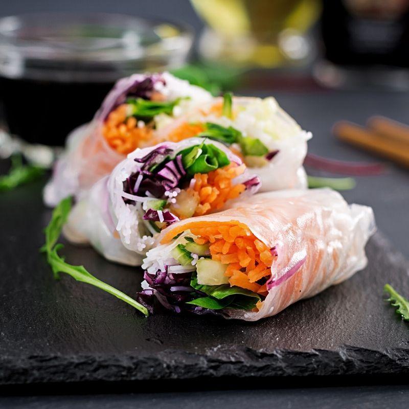 VIETNAMESE RICE PAPER ROLLS in 2020 | Rice paper rolls ...
