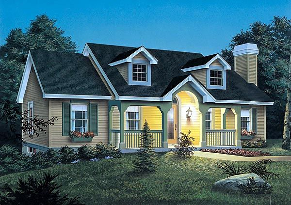 One Story Style House Plan 87356 With 3 Bed 2 Bath Country Style House Plans Cottage Style House Plans Cottage House Plans