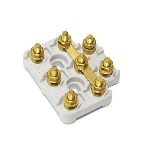 Terminal blocks 50 43 con 8 inserts m4 standard brass for Electric motor terminal blocks