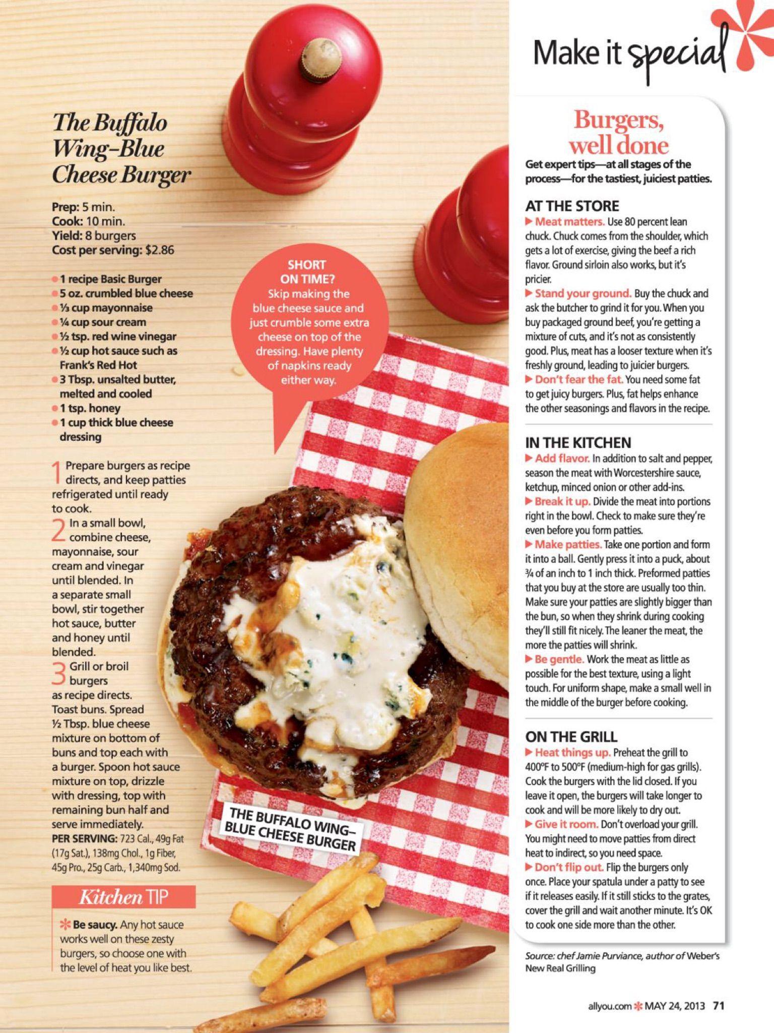 Buffalo Wing-Blue Cheese Burger