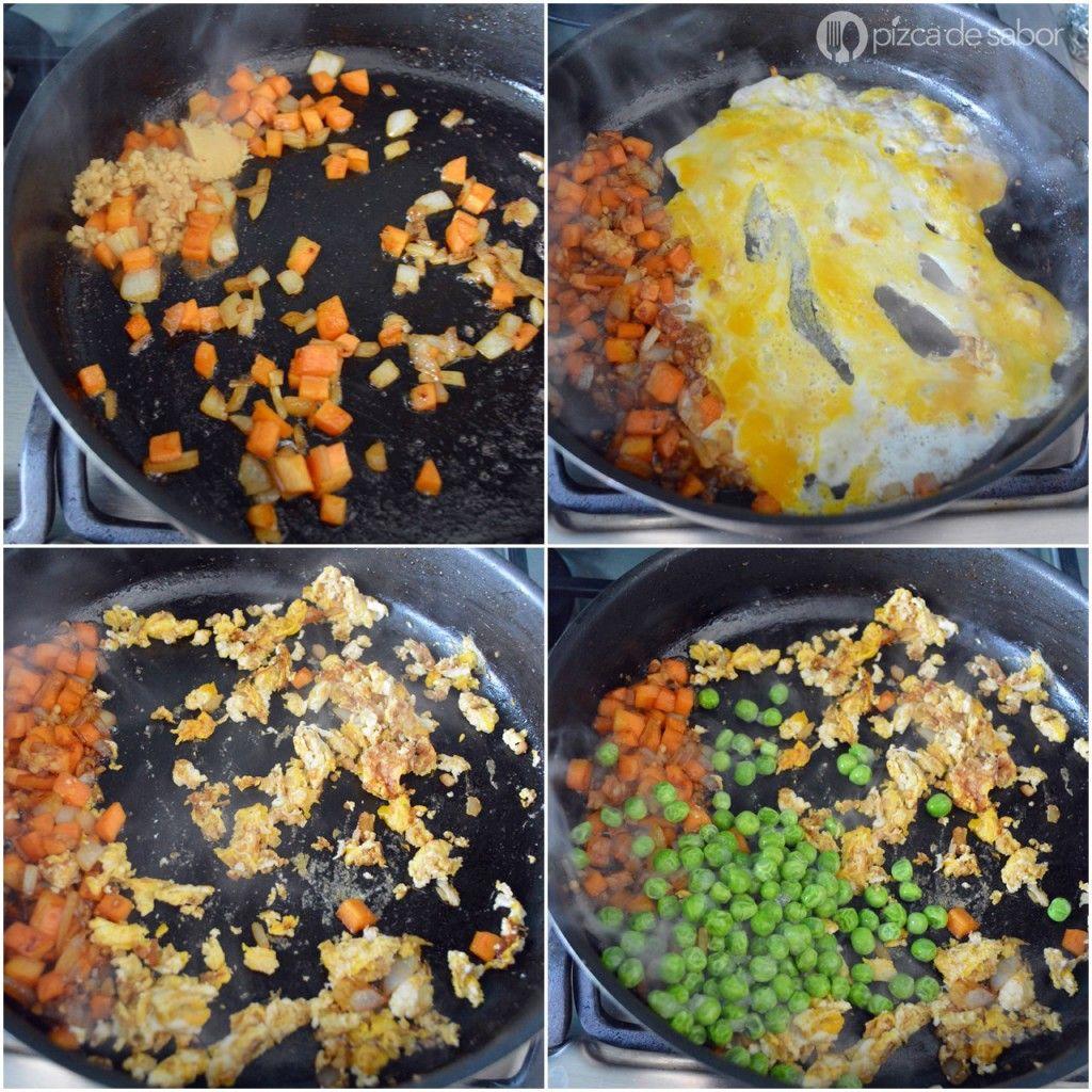 Cómo Hacer Arroz Frito Con Arroz Integral Saludable Rápido Receta Arroz Frito Como Hacer Arroz Arroz Integral
