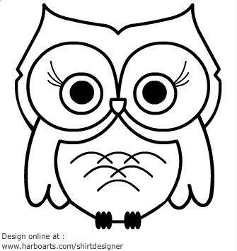 cartoon owls google search - Simple Drawing Pictures For Children