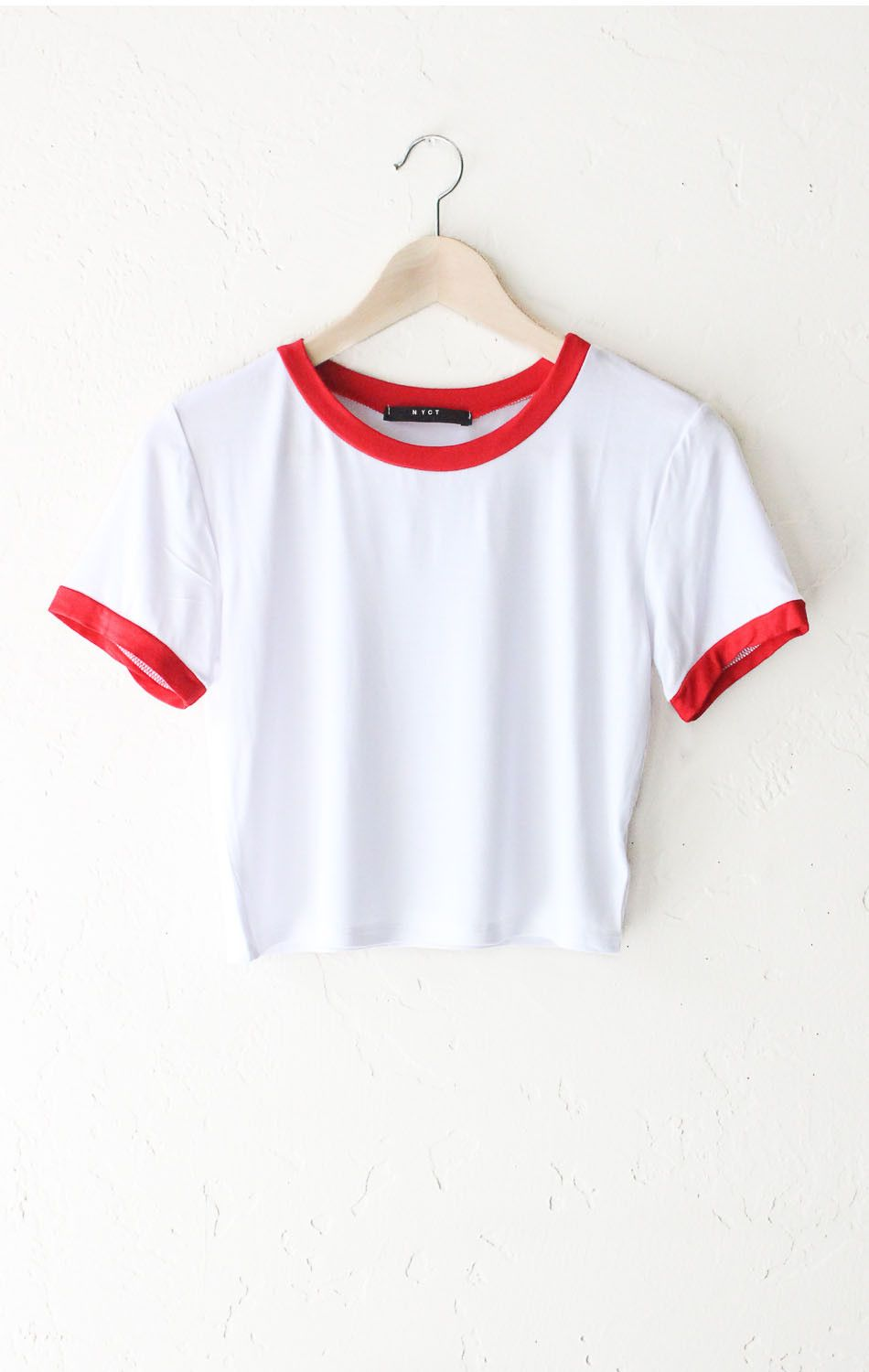 Cropped Ringer Tee White Red Clothes 3 Pinterest Tendencies Tshirt Beach Kid Hitam S Boho Fashion Outfits Styles