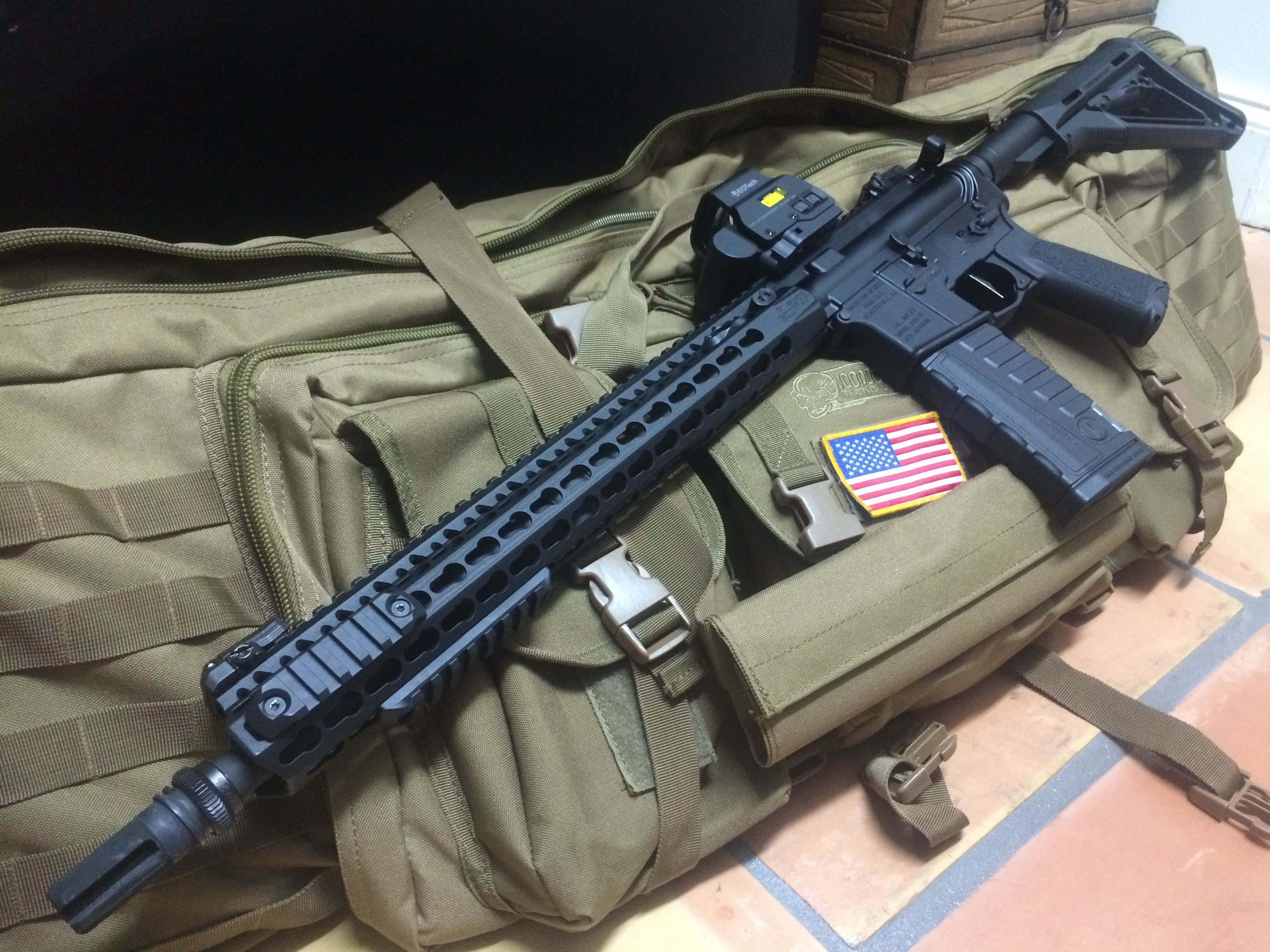 Ar 15 With Bcm 15 Quot Kmr Rail Eotech Exps2 2 And Sd 3g