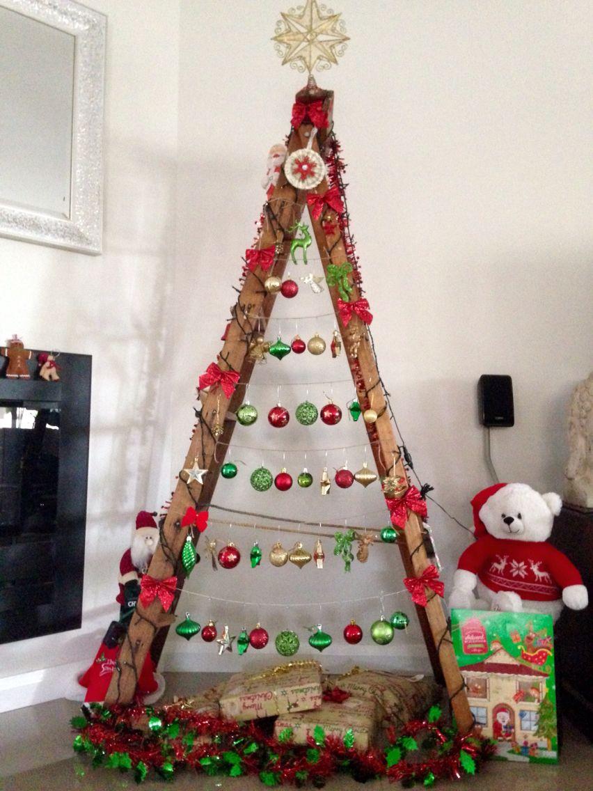 Ladder Christmas Tree Ginny Maurice Noel Maison De