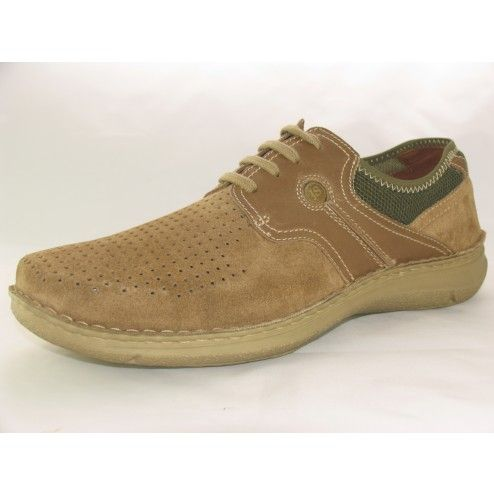 Mens Josef Seibel Anvers 20 Dark Nude/Olive Casual Lace-up Shoes