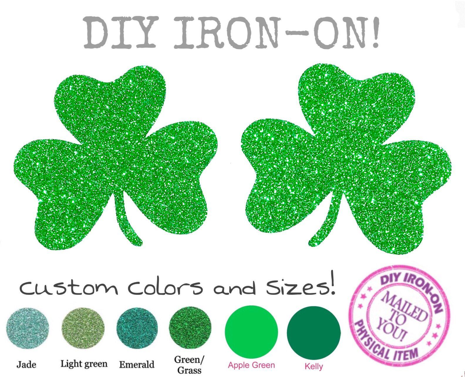 PATRICK/'S DAY Iron On Patch Holiday Clover ST