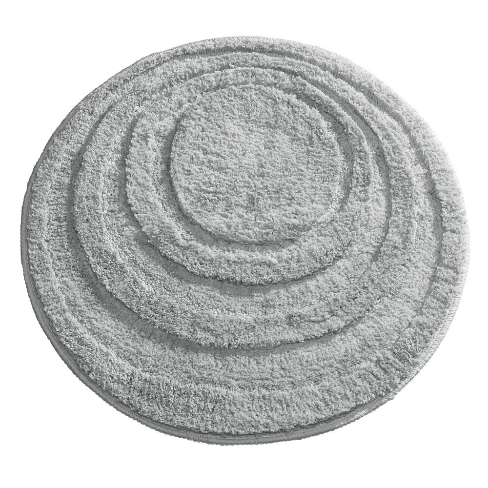 Mdesign Microfiber Bath Mat Non Slip Bathroom Rug 24 Round Gray