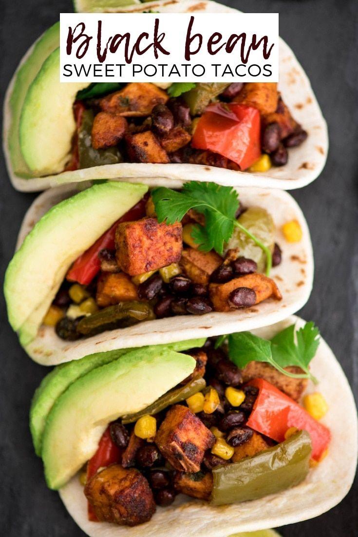 Honey Lime Black Bean Sweet Potato Tacos - JoyFoodSunshine