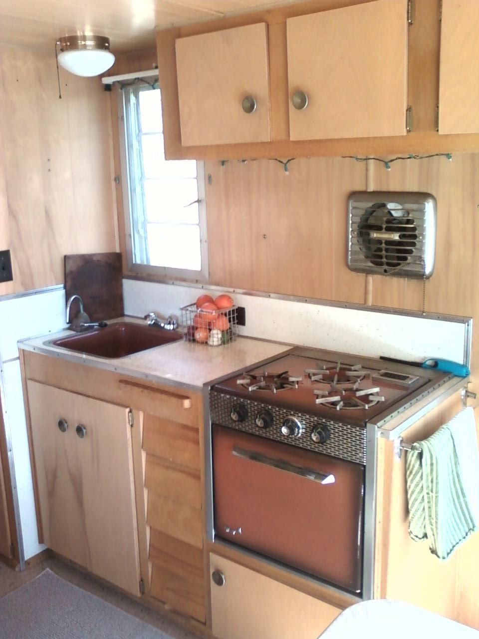 Repurposed Camper Stove Ventilation For Tiny House
