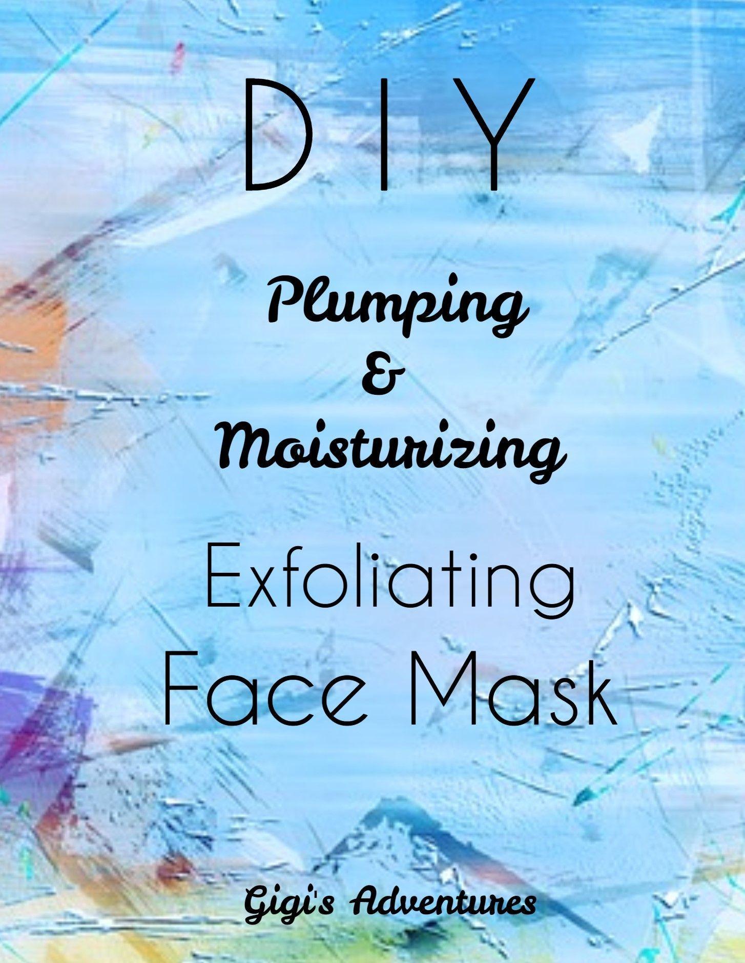 Exfoliating face mask plumping and moisturizing