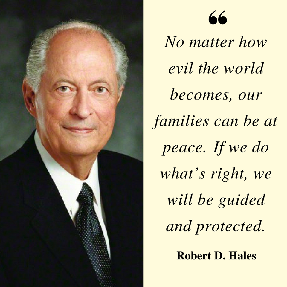 No matter how evil the world becomes, our families can be at peace ...