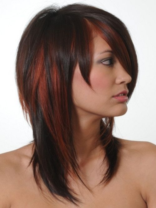 Copper Red Highlights For Black Hair 2016 Red Heads Pinterest